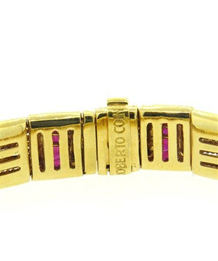 thumbnail image of Roberto Coin Ruby 18k Gold Bracelet