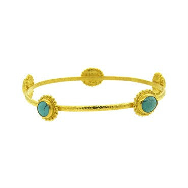 thumbnail image of Gurhan 24k Gold Turquoise Bangle Bracelet