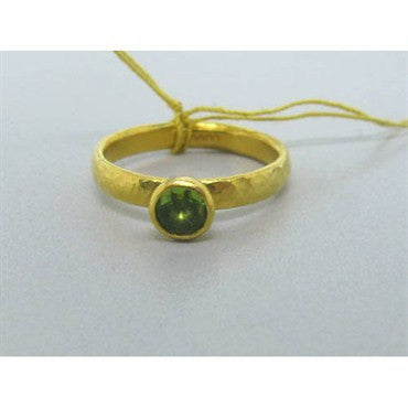 image of New Gurhan 24k Gold Peridot Ring
