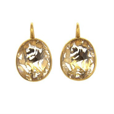 image of Pomellato Arabesque 18K Gold Quartz Earrings