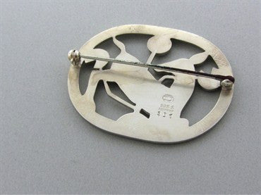 image of Estate Georg Jensen Denmark Sterling Silver Brooch Pin Number 256