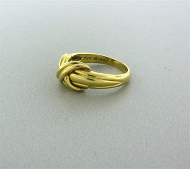 thumbnail image of Estate Tiffany & Co 18K Yellow Gold Signature X Ring