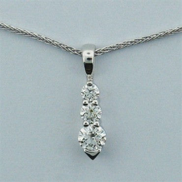 image of Hearts on Fire 18k Gold Illusion Diamond Necklace