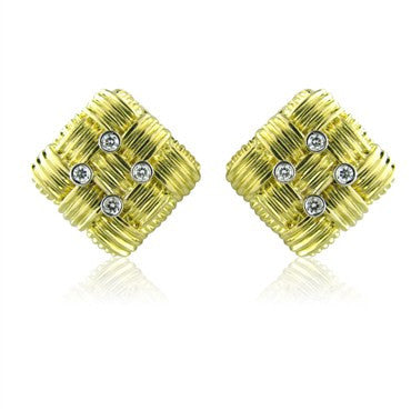 image of Roberto Coin Appassionata 18K Gold Diamond Earrings
