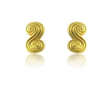 thumbnail image of Estate Tiffany & Co 18k Gold Swirl Earrings