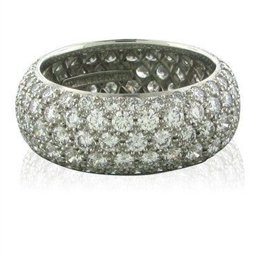 image of Tiffany & Co Etoile Five Row Platinum Diamond Band Ring