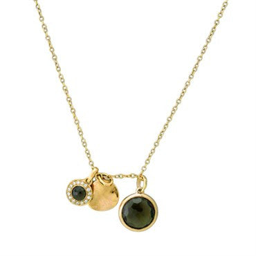 thumbnail image of Ippolita Rose Sterling Smokey Quartz Diamond Pendant Necklace
