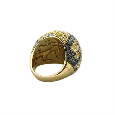 thumbnail image of New Roberto Coin 18K Gold Multi Color Diamond Camouflage Ring