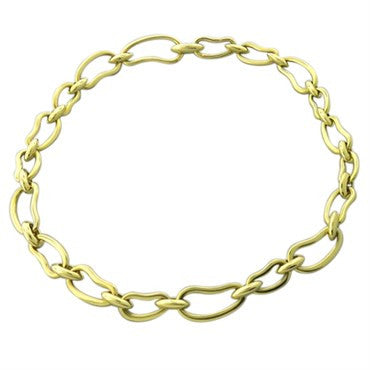 thumbnail image of New Pomellato Paisley 18k Gold Link Necklace
