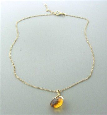 image of Pomellato Veleno 18K Gold Citrine Pendant Necklace