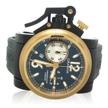 thumbnail image of New Graham Chronofighter Black Label PVD 18k Gold 2OVBZ.B1A.K10B BP