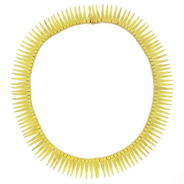 image of 1950s 18k Gold Fringe Necklace