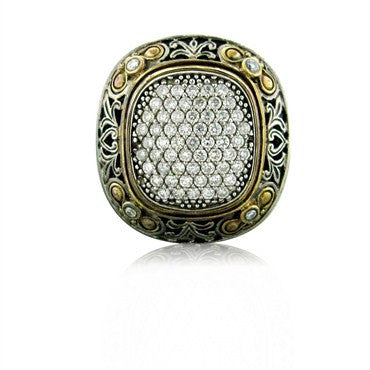 thumbnail image of Konstantino Sterling Silver 18k Yellow Gold Diamond Ring