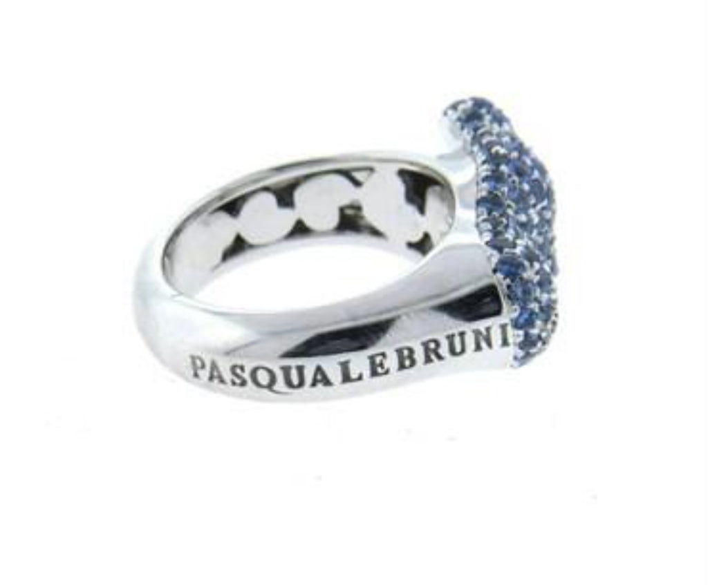 thumbnail image of Whimsical Pasquale Bruni Orme Sapphire Gold Baby Foot Ring