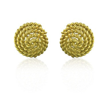 thumbnail image of Tiffany & Co 18k Yellow Gold Spiral Earrings