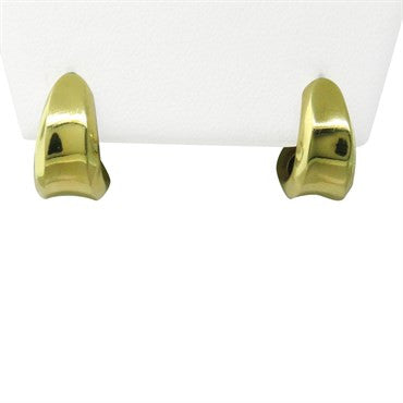image of Robert Lee Morris 18K Gold Huggie Earrings
