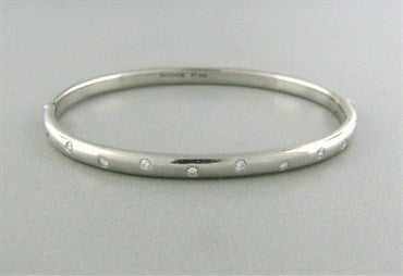 thumbnail image of Tiffany & Co Platinum Etoile Diamond Bangle Bracelet