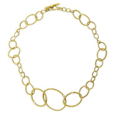 image of Judith Ripka 18K Gold Diamond Jubilee Link Necklace