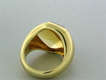 image of Pomellato 18K Yellow Gold Citrine Ring
