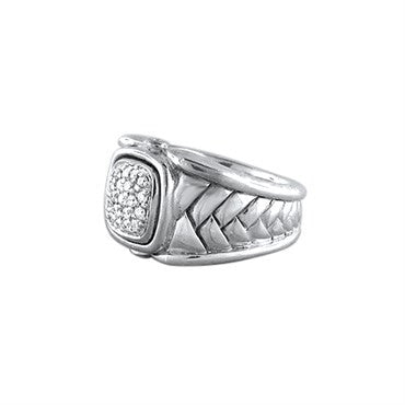 thumbnail image of Estate Scott Kay Sterling Silver Diamond Ring