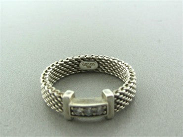 thumbnail image of Tiffany & Co Somerset Sterling Silver Diamond Ring
