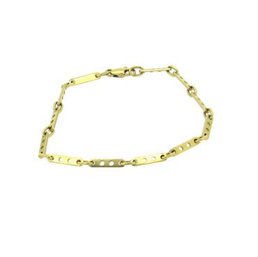 thumbnail image of Cartier 18k Gold Perforated Link Bracelet