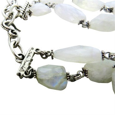 thumbnail image of Stephen Dweck Sterling Silver Labradorite Double Strand Necklace