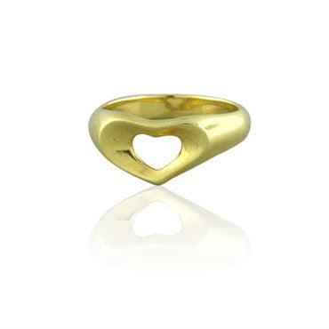 thumbnail image of Estate Tiffany & Co Elsa Peretti 18K Gold Heart Ring