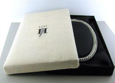 thumbnail image of Estate John Hardy Batu Sari Sterling Silver XL Woven Chain Necklace