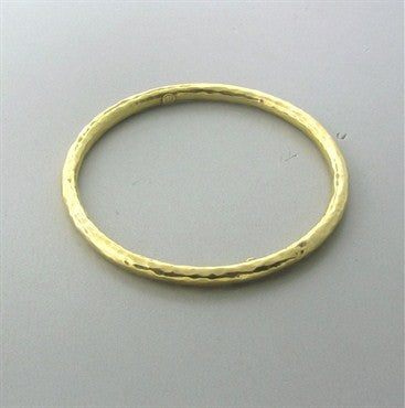 thumbnail image of Roberto Coin 18K Yellow Gold Hammered Finish Bangle Bracelet