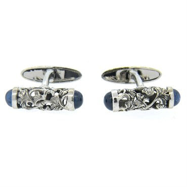 thumbnail image of Carrera Y Carrera Gold Sapphire Cufflinks