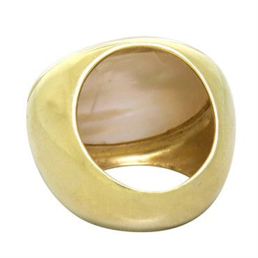 thumbnail image of Faraone Mennella 18k Gold Mother of Pearl Ring