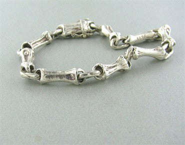 thumbnail image of Estate Tiffany & Co 1996 Sterling Silver Wood Motif Bracelet