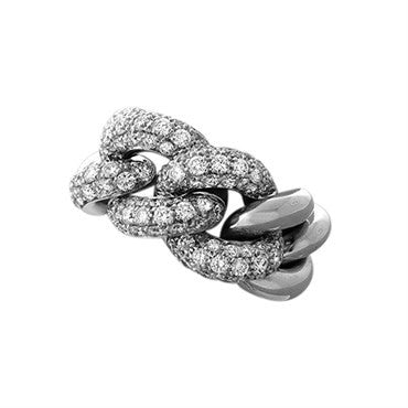image of New Pomellato Gourmette 18k Gold 2.92ctw Diamond Ring