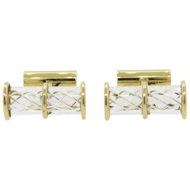 image of Classic Steuben Gold Cufflinks
