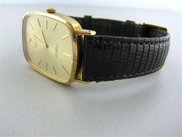 image of Mens Vintage Rolex Cellini 18K Gold Manual Wind Watch
