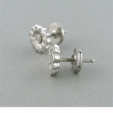 thumbnail image of Tiffany & Co Platinum Diamond Flower Earrings