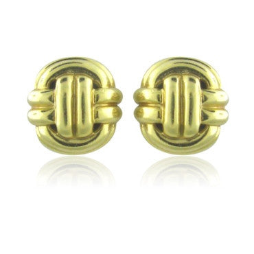 image of Tambetti Vintage 18k Yellow Gold Earrings