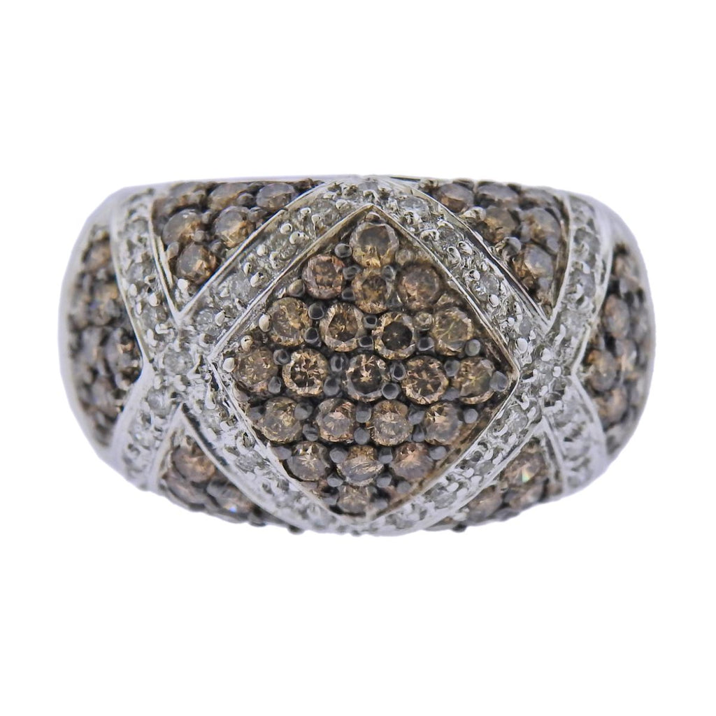 thumbnail image of 14k Gold 1.56ctw Fancy Diamond Dome Ring