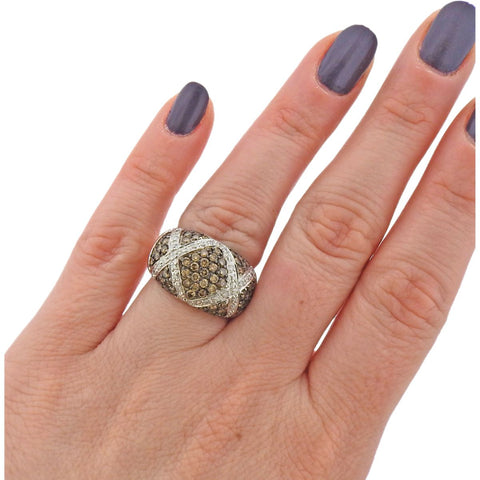 image of 14k Gold 1.56ctw Fancy Diamond Dome Ring