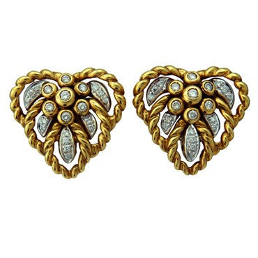 image of Giovane 18K Gold Diamond Cocktail Earrings