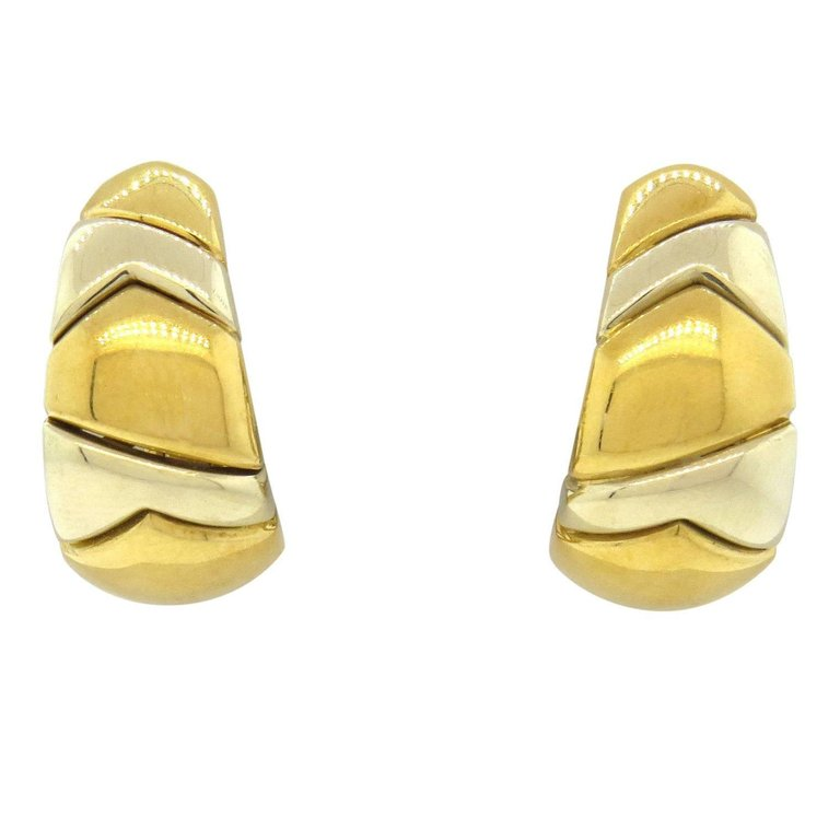 thumbnail image of Bulgari Gold Half Hoop Earrings