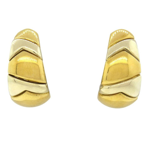 image of Bulgari Gold Half Hoop Earrings