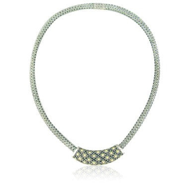 image of John Hardy Sterling Silver 18k Gold Slide Necklace