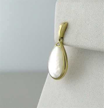 thumbnail image of Kabana 14K Yellow Gold Diamond Mother Of Pearl Drop Earrings