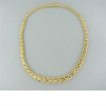 thumbnail image of Vintage Tiffany & Co 14k Gold Woven Pattern Necklace