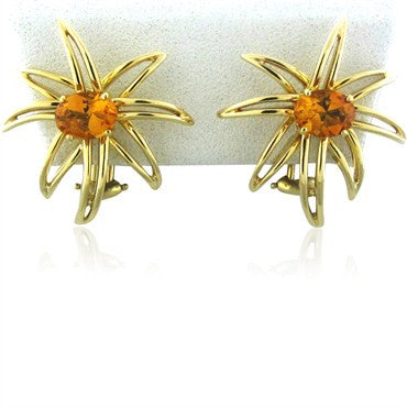 image of Tiffany & Co Fireworks 18K Yellow Gold Citrine Earrings