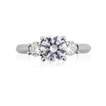 image of New Ritani Platinum Diamond Engagement Ring Setting