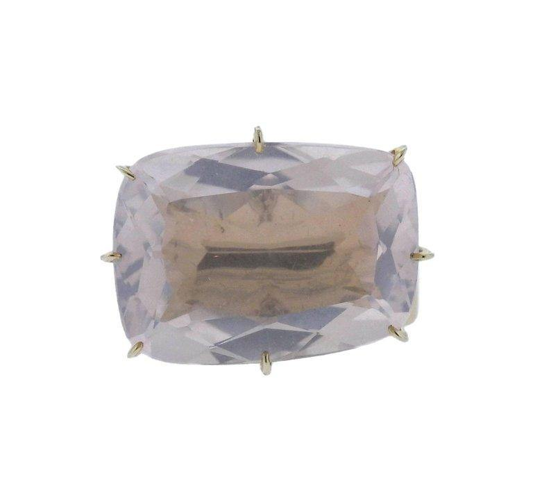 thumbnail image of H. Stern Sunrise Rose Quartz Diamond Gold Ring