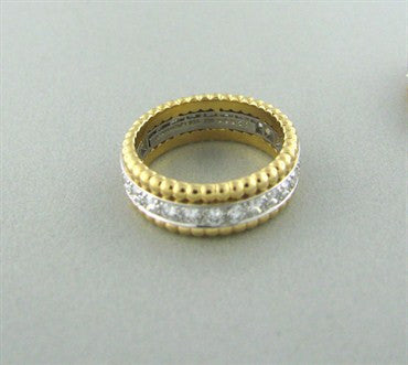 image of Tiffany & Co Platinum 18K Gold 1.00ctw Diamond Band Ring